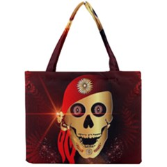 Funny, happy skull Tiny Tote Bags