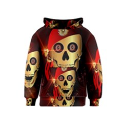 Funny, happy skull Kid s Pullover Hoodies