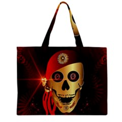 Funny, happy skull Zipper Tiny Tote Bags
