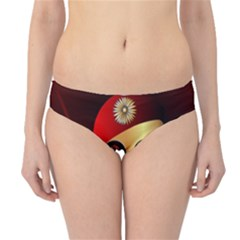 Funny, happy skull Hipster Bikini Bottoms