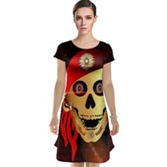 Funny, happy skull Cap Sleeve Nightdresses