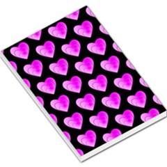 Heart Pattern Pink Large Memo Pads