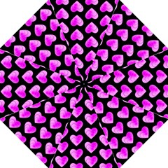 Heart Pattern Pink Golf Umbrellas