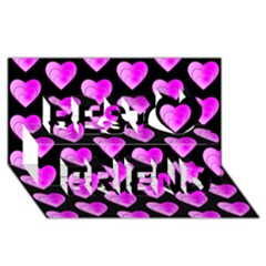 Heart Pattern Pink Best Friends 3d Greeting Card (8x4)