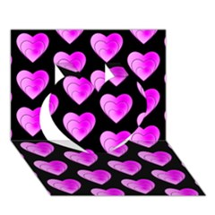 Heart Pattern Pink Heart 3D Greeting Card (7x5)