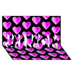 Heart Pattern Pink #1 MOM 3D Greeting Cards (8x4)