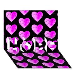 Heart Pattern Pink Hope 3d Greeting Card (7x5)