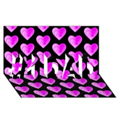 Heart Pattern Pink #1 DAD 3D Greeting Card (8x4)