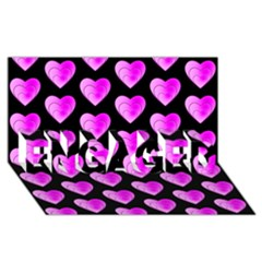 Heart Pattern Pink ENGAGED 3D Greeting Card (8x4)