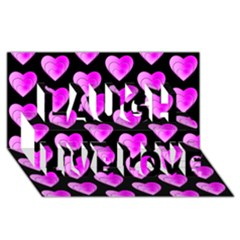 Heart Pattern Pink Laugh Live Love 3D Greeting Card (8x4)