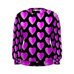 Heart Pattern Pink Women s Sweatshirts