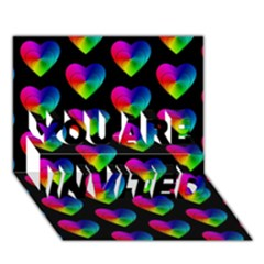 Heart Pattern Rainbow YOU ARE INVITED 3D Greeting Card (7x5)
