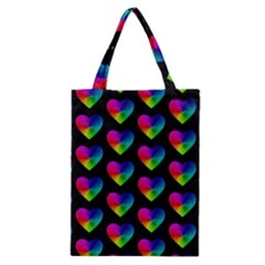 Heart Pattern Rainbow Classic Tote Bags