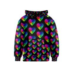 Heart Pattern Rainbow Kid s Pullover Hoodies