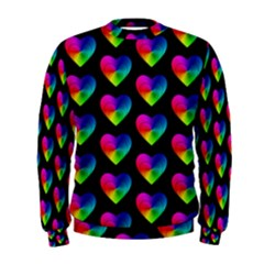 Heart Pattern Rainbow Men s Sweatshirts
