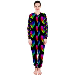 Heart Pattern Rainbow OnePiece Jumpsuit (Ladies)
