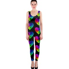 Heart Pattern Rainbow OnePiece Catsuits