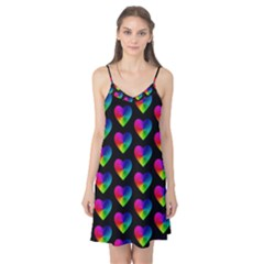 Heart Pattern Rainbow Camis Nightgown