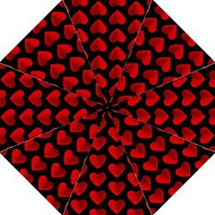 Heart Pattern Red Folding Umbrellas