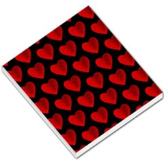 Heart Pattern Red Small Memo Pads
