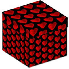 Heart Pattern Red Storage Stool 12