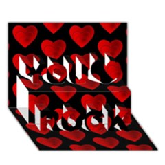 Heart Pattern Red You Rock 3D Greeting Card (7x5)