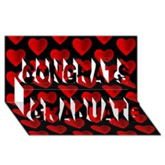 Heart Pattern Red Congrats Graduate 3D Greeting Card (8x4)