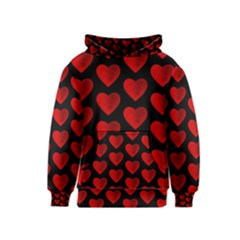 Heart Pattern Red Kid s Pullover Hoodies