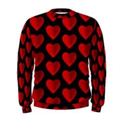 Heart Pattern Red Men s Sweatshirts