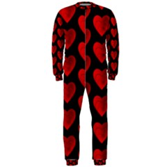 Heart Pattern Red Onepiece Jumpsuit (men)