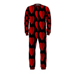 Heart Pattern Red OnePiece Jumpsuit (Kids)
