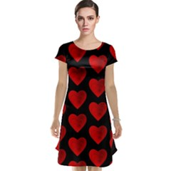 Heart Pattern Red Cap Sleeve Nightdresses