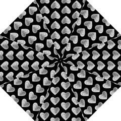 Heart Pattern Silver Straight Umbrellas