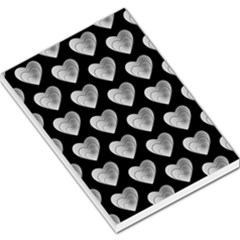 Heart Pattern Silver Large Memo Pads