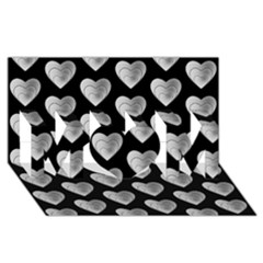 Heart Pattern Silver Mom 3d Greeting Card (8x4)