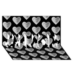 Heart Pattern Silver #1 MOM 3D Greeting Cards (8x4)