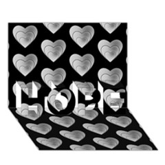 Heart Pattern Silver HOPE 3D Greeting Card (7x5)