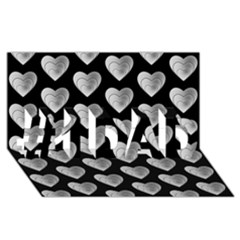 Heart Pattern Silver #1 DAD 3D Greeting Card (8x4)