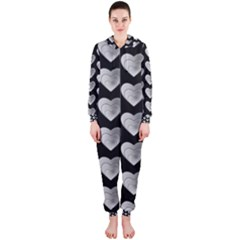 Heart Pattern Silver Hooded Jumpsuit (ladies)