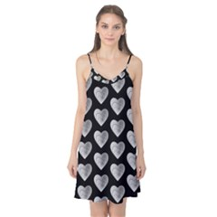Heart Pattern Silver Camis Nightgown