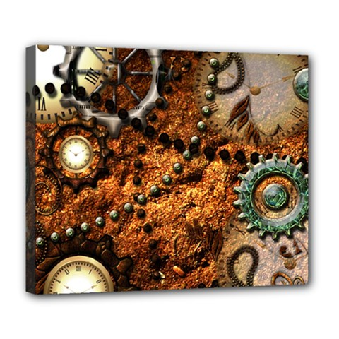 Steampunk In Noble Design Deluxe Canvas 24  x 20
