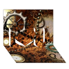 Steampunk In Noble Design I Love You 3d Greeting Card (7x5)