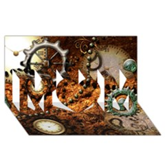 Steampunk In Noble Design Mom 3d Greeting Card (8x4)