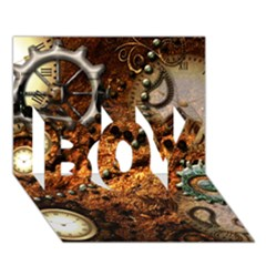 Steampunk In Noble Design BOY 3D Greeting Card (7x5)