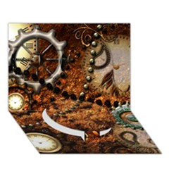 Steampunk In Noble Design Circle Bottom 3D Greeting Card (7x5)