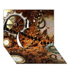 Steampunk In Noble Design Apple 3d Greeting Card (7x5)