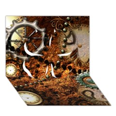 Steampunk In Noble Design Clover 3d Greeting Card (7x5)