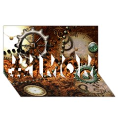 Steampunk In Noble Design #1 Mom 3d Greeting Cards (8x4)