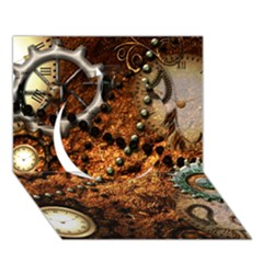 Steampunk In Noble Design Circle 3D Greeting Card (7x5)