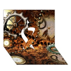 Steampunk In Noble Design Ribbon 3D Greeting Card (7x5)